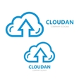 logo combination of a cloud and arrow up vector image vector image