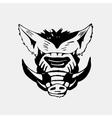 Logo symbol sign stencil boar headUnique technique vector image vector image