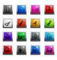 measuring tools icon set vector image