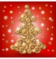 Mechanical Christmas tree vector image vector image