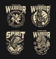 mixed martial arts fight club badges vector image
