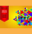 multicolored geometric abstract background with vector image