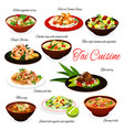 national thai food thailand traditional cuisine vector image vector image