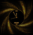 new year 2020 golden background with clock vector image vector image