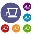 old grape juicer icons set vector image vector image