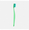 oral toothbrush icon realistic style vector image vector image