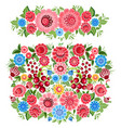 ornate collection of fancy decoration floral vector image vector image