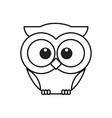 owl bird line icon cute owl cartoon character vector image vector image
