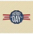 Patriot Day Text on festive Emblem vector image