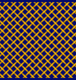 pattern of golden braids on a blue background vector image vector image