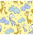 pattern with zebras and Hippogiraffe4-01 vector image