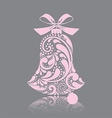 Pink christmas bell vector image vector image