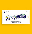 policemen pursuit robber on duty landing page vector image