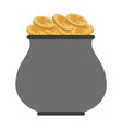 pot with coins vector image vector image