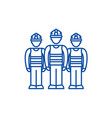 production team line icon concept production team vector image vector image