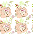 seamless wallpaper with pink flowers vector image vector image