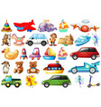 set different toys vector image vector image