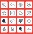 set of 16 eco icons includes timber cigarette vector image vector image