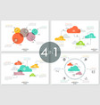 set of diagrams vector image vector image