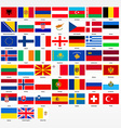 Set of flags of all countries of Europe vector image vector image