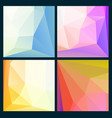 set of low poly bright backgrounds vector image vector image