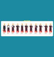 set of super businesswoman character design vector image vector image
