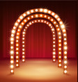 shine corridor light passage for your performance vector image