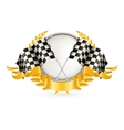 Silver Racing Emblem vector image vector image