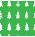 simple christmas seamless pattern with white vector image