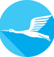 Stork Bird Icon vector image