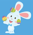 style easter bunny character collection vector image vector image