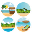 summer holidays on beach poster vector image vector image
