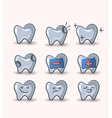 teeth set on white background vector image vector image