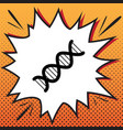 the dna sign comics style icon on pop-art vector image vector image