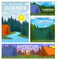 travel camping camp and tents vector image