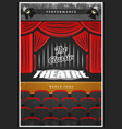 vintage colored theatre advertising poster vector image vector image