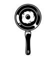 vintage cooking pan concept vector image