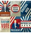 Vintage Politics Posters vector image vector image