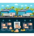 Warehouse Logistics Compositions vector image