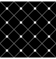 White Square Diamond Grid Black Background vector image