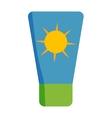Sunscreen cream icon vector image