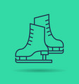 linear icon of pair of skates vector image