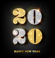2020 happy new year greeting card with gold and vector image vector image