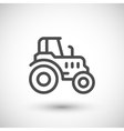 Agricultural tractor line icon vector image vector image