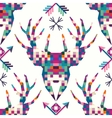 Animal head deer triangular pixel icon vector image vector image