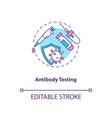 antibody testing concept icon vector image