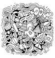 bacartoon doodle funny children vector image