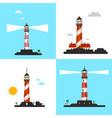 beacon icons - lighthouse symbols set vector image