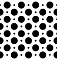 Black and white seamless geometric pattern in polk vector image vector image