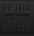black retro style carved alphabet vector image vector image
